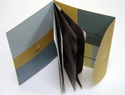 Die cut saddle stitched booklet