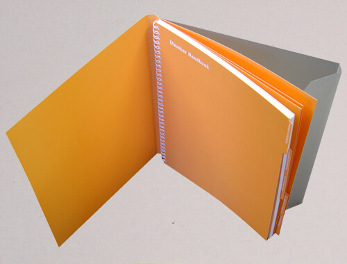 Wire-O bound book with semi-concealed cover