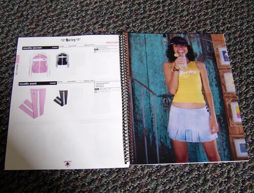Plastic coil bound catalog